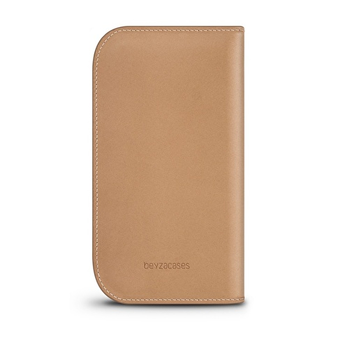 Beyzacases iPhone 6 / 6s Naturel Wallet Camel